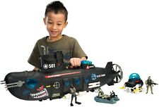Soldier Force Submarine Lights Sounds Action Figures Playset Kids Toy Boys Gift