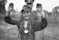 WWII B&W Photo Young German POW France July 1944  World War Two   WW2 / 2333