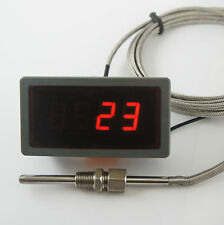 "Exhaust Temperature Gauge Kit 1/8"" NPT, EGT Marine Boat. 24v, 8m Sensor Cable."