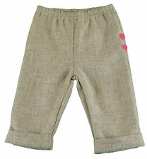 JACADI Girl's Assez China Gray Pants with Heart Details Age: 23 Months NWT $46