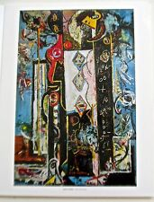 Jackson Pollock Male and Female 1942 Poster Reprint 14x11 Offset Lithograph