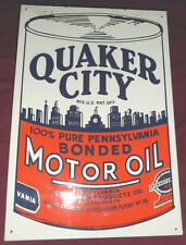 Vintage Quaker City Pennsylvania Motor Oil Sign