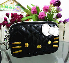 New Hellokitty Make up / Cosmetic / Coin Bag Clutch Bag Wallet 12B1 Black