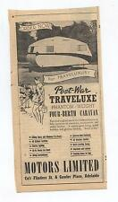 Traveluxe Caravan Original Advertisement removed from a 1947 Magazine