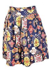 See By CHLOE Geometric Paisley Silk Pleated Skirt Small 40 4 5 6