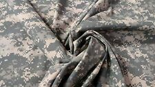"ACU DIGITAL CAMO FABRIC 64""W NYLON POPLIN SUPLEX MIL SPEC DWR MILITARY APPAREL"