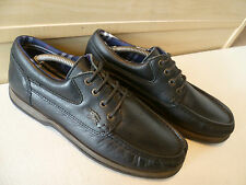 Burberry london lacets mocassin uk 10.5 45 vtg cuir noir sq moc toe mocassin