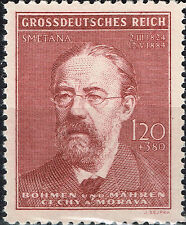 Germany WW2 Protectorate Music Composer Smetana 1944 MNH