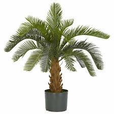 Artificial Cycas  Palm Tree Silk Plastic Faux  Patio Furniture Plants Office