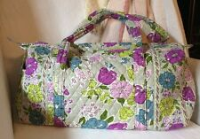 VERA BRADLEY Watercolor Small Quilted Duffel Bag ~ Gym Travel Carryon Duffle Bag