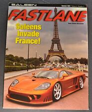2001 Saleen S7R Fastlane Brochure Folder Excellent Original 01