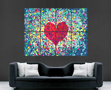 LOVEHEARTS POSTER ABSTRACT LOVE MOSAIC MOOD ART PRINT IMAGE PICTURE WALL ART