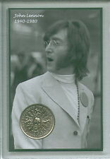 John Lennon of The Beatles Liverpool Music Legend Crown Coin Fan Gift Set 1980