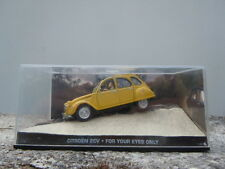Voiture James Bond 007 Citroen 2CV For your eyes only miniature 1/43eme