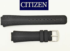 Citizen Eco Drive Original Strap Black Rubber Watch Band AT0270-00E AT0270-18E