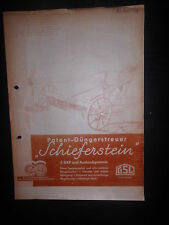 Prospekt Sales Brochure Düngerstreuer Schiefenstein 1939 Fertiliser spreader