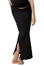 New Japanese Weekend Maternity Clothes Long Black Suiting Maxi Skirt S 6/8 $88
