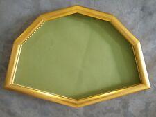 cornice ventagliera in legno dorato (cm.52x34)