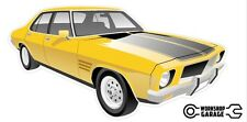 New! Collectable Holden HQ Monaro GTS 4Door - Yellow