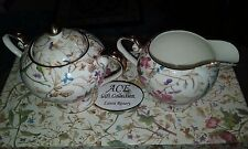 NEW IOB ROYAL ELFREDA CREAM & SUGAR SET ACE GIFT COLLECTION LAURA ROSARY