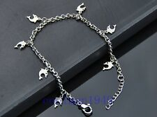 Fashion Dolphin Pendants Stainless Steel Anklet Bracelet JL01