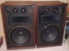 Pair Vintage Sterling SE-610B Speakers Utah Electronics  1972 Working Look Good
