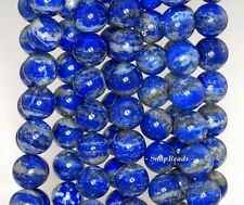 8MM AZURA LAPIS LAZULI GEMSTONE A BLUE ROUND 8MM LOOSE BEADS 8""