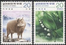 Korea 1979 Goral/Lily of the Valley/Animals/Flowers/Nature 2v set (n27364)