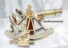 Vintage Navy Brass Astrolabe Nautical Sextant Solid Brass Working Sextant 8""