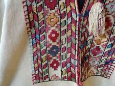 IMPORTANT MUSEUM ANTIQUE PALESTINIAN EMBROIDERY DRESS ROBE OR SYRIAN? MOROCCAN?