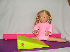 """PINK GYMNASTIC OUTFIT LEOTARD FOR 18"""" DOLL FITS AMERICAN GIRL OUR GENERATION"""