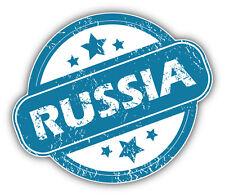 Russia Grunge Stamp Car Bumper Sticker Decal 5'' x 4''