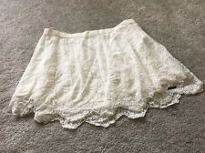 Abercrombie And Fitch White Lace Mini Flare Skirt Medium M 10