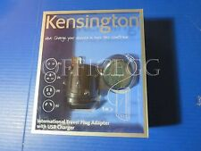 Kensington K33346US International Travel Plug Adapter with USB Charger
