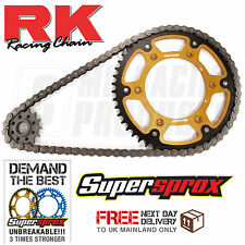 Honda XR 650R 00 - 07 RK 520 Chain & Supersprox Stealth Sprocket Kit Gold