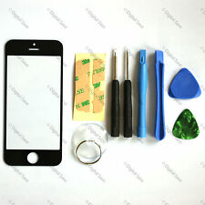 BLACK iPHONE 5 REPLACEMENT FRONT OUTER SCREEN LENS GLASS