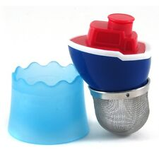 FLOAT MY BOAT FLOATING TEA INFUSER CUTE TUG LOOSE LEAF MUG STRAINER DRIP CUP