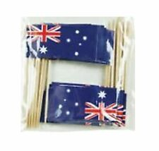Australian Flag Party Toothpicks 25 Pack - Paper Flag Printed on both sides