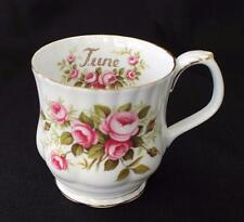 Vintage ROYAL ALBERT Bone China England ROSES Flower of Month Series Cup
