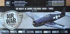 Vallejo Model Air VAL71157 WW2 US Navy + USMC aircraft  8 colour paint set