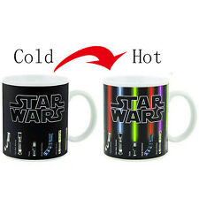 The Star Wars Lightsaber Heat Changing Mug Color Change Coffee Cup Ceramic Gift