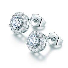 18k Silver Gold Filled Swarovski Crystal Women Costume Stud Earrings Jewelry