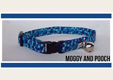 Handmade Liberty Print Cat Collar, Safety Release Buckle, Bell And Charm