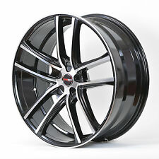 4 GWG Wheels 17 inch Black Machined ZERO Rims fits ET40 LINCOLN LS V8 2000-2006