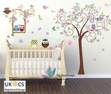 Owl/SwingTree/Flower/Butterfly Animal Nursery baby Unisex wall sticker Art Decal