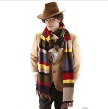Dr Doctor Who Fourth 4th Tom Baker Striped DELUXE Scarf