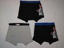 NWT LEGO STAR WARS 3 BOY boxer briefs underwear size 4 black, gray