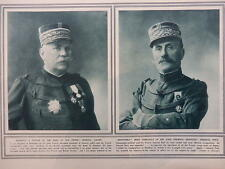 1914 GENERAL JOFFRE AND GENERAL FOCH; FLOODING OF WEST FLANDERS WWI WW1