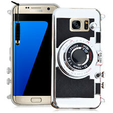 Etui Coque Silicone TPU Video NOIR appreil photo Samsung Galaxy S7 edge G935F