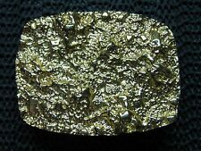 GOLD NUGGET DESIGN BELT BUCKLE! VINTAGE! RARE! TEXAS PURTIES! 24KT GOLD PLATED!